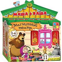 Игра настольная Магнитный театр. Маша и Медведь. Маша + Каша VT3206-06