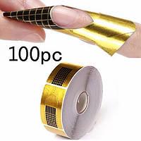 Формы для наращивания ногтей, 100 шт.