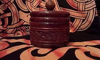 Шкатулка круглая резная, фото 1