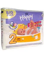 Детские подгузники Bella Happy 2 Mini (3-6 кг) 78 штук