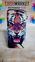 Чехол силиконовый бампер для Iphone 5/5s с рисунком Тигр
