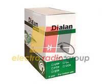 Витая пара Dialan UTP Сat.5Е 2PR 0,48 мм, PVC Indoor 305 м