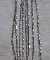 Блестящая синельная проволока (синель пушистая), цена за 1шт. Цвет - серебряный
