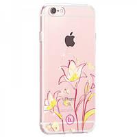 Чехол Hoco Super star series inner diamond flower Goldband Lily для iPhone 6/6S Plus, фото 1