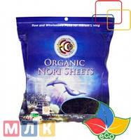 Earth Circle Organics Органические нори для суши, холодная обработка, 50 листов, 125 г
