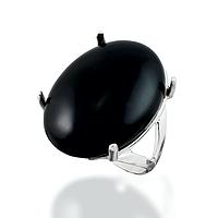Агат черный, серебро 925, кольцо
