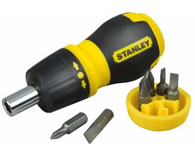 """Отвертка - набор """"Multibit"""" Stubby L=120мм, реверсивная, 6 бит STANLEY 0-66-358"""