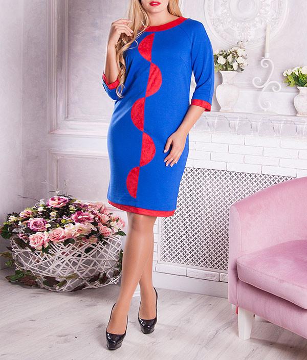 """Красивое женское платье """"Сетти"""" с узором"""