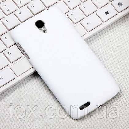 Белый пластиковый чехол с антискользящим покрытием для Lenovo S650