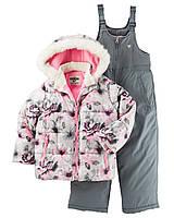 Зимний комбинезон 2в1 для девочки штаны+куртка