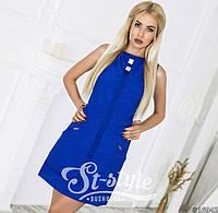 Женское летнее короткое платье  46-8542, 38, ментол