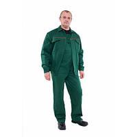 Ксотюм зеленый куртка с полукомбинезоном, Саржа