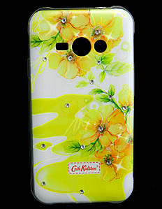 Чехол накладка для Samsung Galaxy J1 ACE J110 силиконовый Diamond Cath Kidston, Sun Flowers