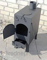 """Буржуйка """"Огонь"""" с варочной поверхностью, сталь 4 мм."""