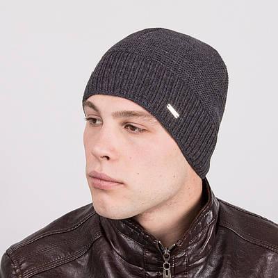 Зимняя мужская стильная шапка - Артикул m22е