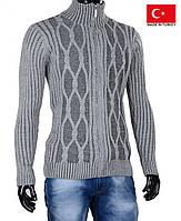 Мужской кардиган серого цвета.Кофта мужская.Стильные и теплые кофты на зиму.