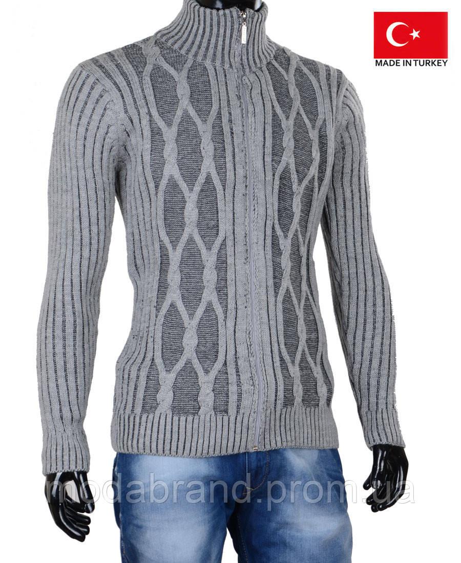 22ffa7f2f3514 Мужской кардиган серого цвета.Кофта мужская.Стильные и теплые кофты на зиму.  -