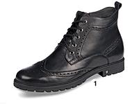 Мужские зимние ботинки черные кожа ТМ Мида мод 14973