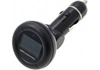 FM трансмиттер ATOMIC T853N: WMA, MP4, цветной дисплей с подсветкой, пульт ДУ, SD, MMC, USB, черный