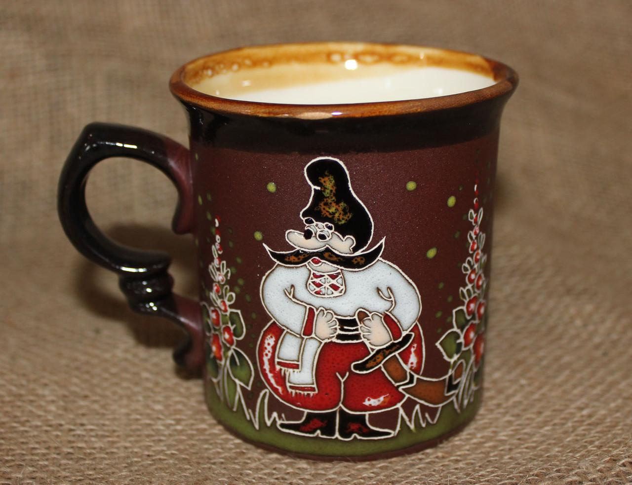 Чашка керамическая «Казак смелый »