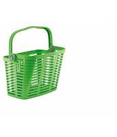 Корзина BELLELLI PLAZA VERDE GIALLASTRO зеленая пластиковая с креплением на руль