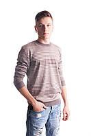 Молодежный мужской джемпер в полоску