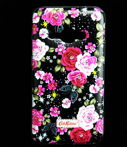 Чехол накладка для Samsung Galaxy J1 2016 J120 силиконовый Diamond Cath Kidston, Ночные розы