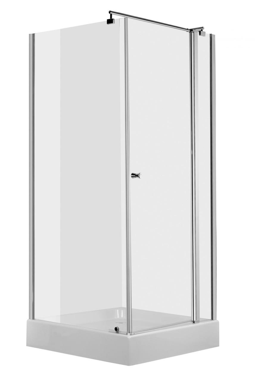 Душевая кабина квадратная Deante CUBIC, стекло прозрачное, 80 см
