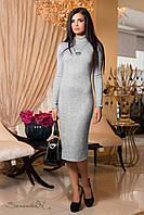 Женское серое платье из ангоры 1902 Seventeen 44-50 размеры