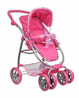 Игрушка коляска для кукол MELOGO 9662: люлька 55х26 см, коляска 75х70 см, 2 положения зима/лето