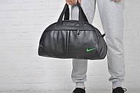 Сумка Nike кож зам зеленый лого