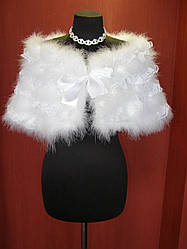 Свадебная накидка лебединый пух и гипюр № 15-05