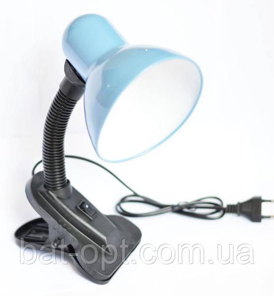 Настольная лампа на прищепке E27 от сети 220V