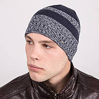 Вязаная модная мужская шапка в полоску - Артикул m31а