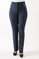 Офисные брюки с узкой штанкой, Нона синего цвета