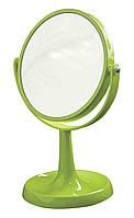 Косметическое настольное зеркало на ножке Trento салатовое