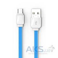 USB кабель LDNio Flat MicroUSB Blue (XS-07)