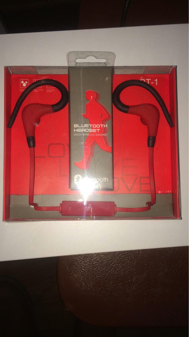 Наушники беспроводные Bluetooth headset BT-1 Red