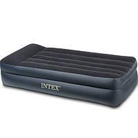 Односпальная надувная кровать Intex 66706 с подголовником, со встроенным насосом 220V, 191 х 99 х 42