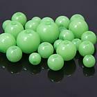 Бусины Акриловые Желейные, Круглые, Цвет: Зеленый, Размер: Микс, Отверстие 2мм, около 140~235/50г, (УТ100005194)