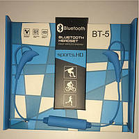 Наушники безпроводные Bluetooth headset BT-5 blue