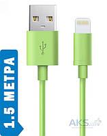 Кабель USB GOLF Lonsmax Lightning Cable 1.5 m. Green
