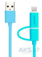 USB кабель GOLF Lonsmax Super-Speed 2-in-1 Round Blue