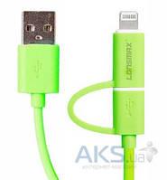USB кабель GOLF Lonsmax Super-Speed 2-in-1 Round Green
