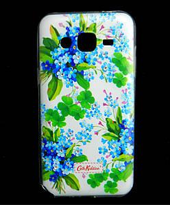 Чехол накладка для Samsung Galaxy J2 J200 силиконовый Diamond Cath Kidston, Прекрасные незабудки