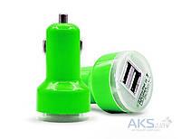 Зарядное устройство Siyoteam Car charger 2USB Short (5V/2A) Green