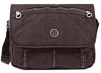 """Практичная сумка для IPad планшетного ноутбука 10"""" на плечо Roncato Rolling 7110/44 коричневая"""
