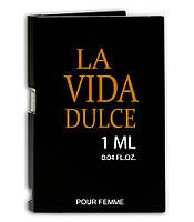 Туалетная вода с феромонами для женщин  La Vida Dulce 1 ml for women. Пробник. Бесплатная доставка Укрпочтой