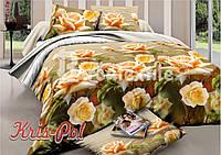 Комплект постельного белья полиэстер 3D ТМ KRIS-POL (Украина) полуторный 4985042