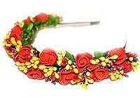 Ободок женский с цветами Розы